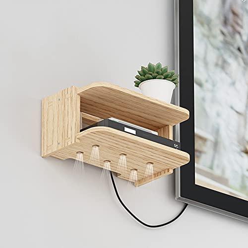 Support flottant suspendu mural meuble TV support TV console routeur rack DVD décodeur support de stockage de téléphone boîte suspendue/A / 29×19×16cm