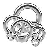 SONSYON 10 Stück Hohe Qualität Ringmutter - M3/M4/M5/M6/M8 Ösenmutter Oesenschraube Ringmuttern Gewinde Mutter Befestigungen Augenmutter aus Edelstahl, Silber, M4(10PCS)