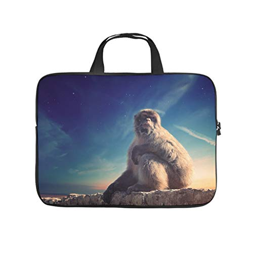 Animal Monkey Laptop Computer And Tablet Carrying Case Bag Waterproof Portable Laptop Sleeve For Business&Travel white 12 zoll