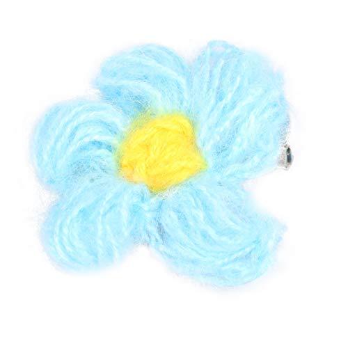 Holibanna Broche de Flor Linda Pin de Solapa Pinza de Pelo Floral Insignias de Pin Coloridas para Bolsas de Ropa Bufanda Chaquetas Sombrero Accesorio Azul Cielo