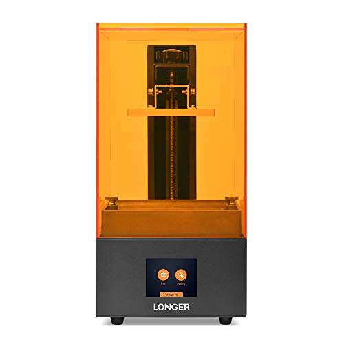 LONGER Orange 10 Resin SLA 3D Printer with Parallel LED Lighting, 3.86' x 2.17 x 5.5' Printing Size, Temperature Warning