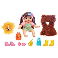 Baby Alive Littles Fantasy Styles Squad Dolll, Little Harlyn, Safari Accessories, Straight Brown Hair Toy for Kids Ages 3 Years