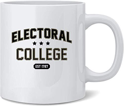 N\A Taza de café de cerámica política de Parodia Deportiva de Alma Mater para Colegio Electoral, Tazas de café, Taza de té, Regalo Divertido y novedoso