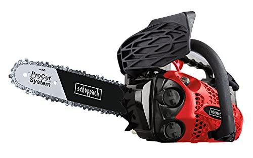 Scheppach Benzin Kettensäge Motorsäge mit ProCut-Schwert CSP2540 Einhand-Kettensäge | 0,95 PS Leistung | 25cm Schwert