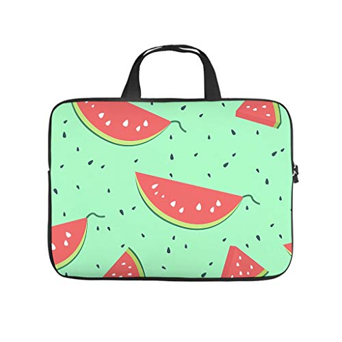 Watermelon Fruit Laptop Bag Scratch Resistant Protective Case for Laptops Design Notebook Bag for University Work Business