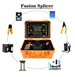 kit para Fibra Optica 220V,Fusionadora Fibra Optica,Fusion Splicer,Pantalla LCD TFT,Aplicable para SM/MM/DS/NZDS,Enchufe UE,A-81S,para Proyectos de Fibra Óptica y Cable