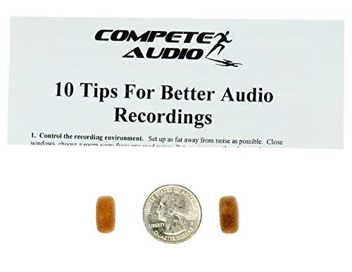 Konkurrieren Audio cm212Mini Lavalier (Tiny.) Mikrofon Windschutzscheibe, Tan Doppelpack für Countryman E6und andere Headset/Revers Mikrofone