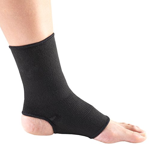 Champion Ankle Support, Pullover, Black Knit Elastic, Small/Mediu