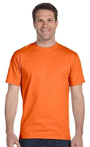 Hanes 5.2 onzas Camiseta de algodón (5280)., 5280, M, Anaranjado