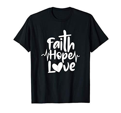 Fe Esperanza Amor Concienciación sobre el cáncer de mama Camiseta
