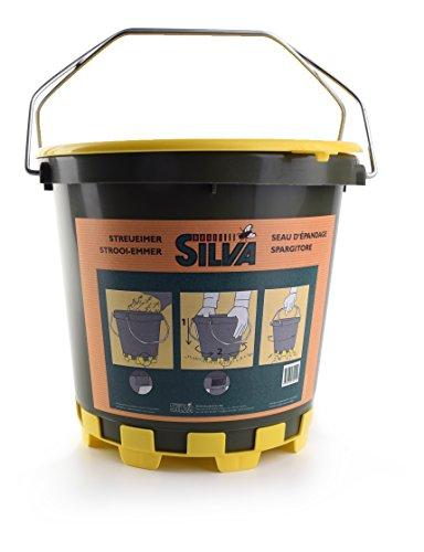 Silva - Cubo multifunción para esparcir fertilizante, también para sal de deshielo