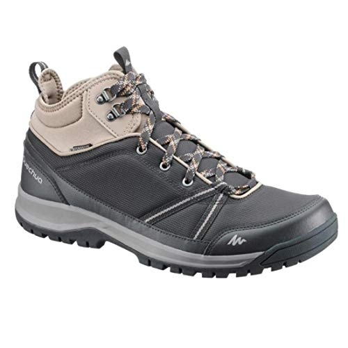 Quechua NH300 Mid Waterproof Men's Nature Hiking Boots - Black...