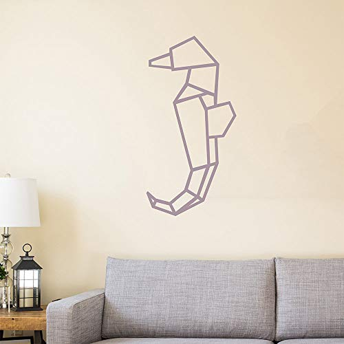 H421ld Geométrico Caballito de mar, Origami, arte de pared nórdico