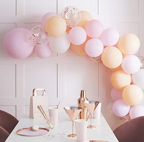 XXL luchtballon slinger DIY ballon slinger set bruiloft ballonnen pastelkleuren roze blush pink wit abrikoos 60 balloons verjaardag decoratie baby-shower-party accessoires bruiloft foto accessoires