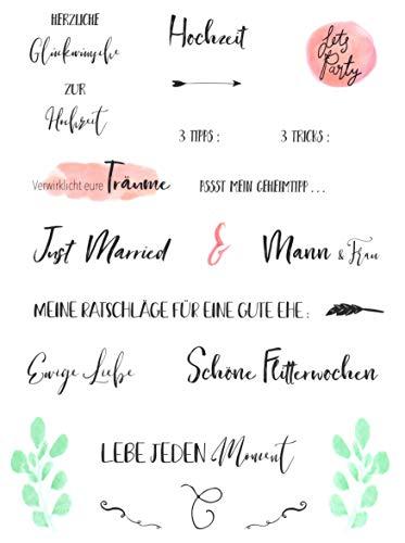 Hochzeits Sticker (Watercolors & Handlettering Design) | 133 Stück - 5