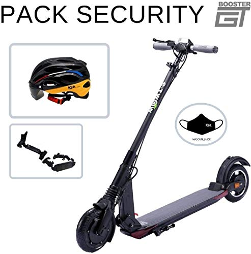 E-Twow Booster GT 2020 Pack Security | Casco Ice + Accesorios | Negro | Batería 48V 10,5Ah | Motor 700W | Casco IC Electric