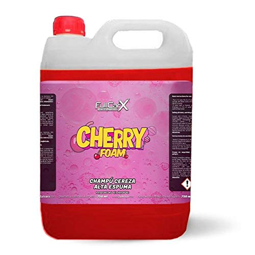 AutoFullCar - Cherry Foam Champú Cereza Garrafa 5 litros Activo Super Brillo FullCarX Agradable Aroma de Cereza