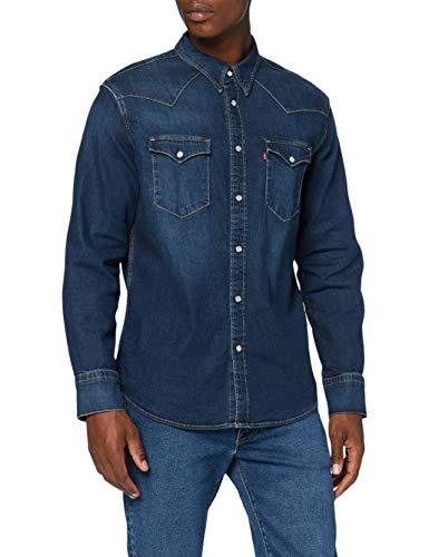 Levi's Herren Barstow Western Standard Shirt, Modern Stretch Dark Worn, M