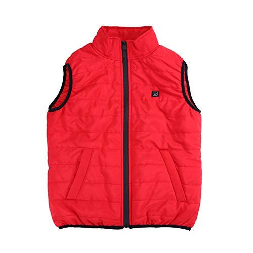 FRDF Vrouwenverwarmingsvest, verdikt plus fluweel warm gilet, USB-elektrische verwarming, opstaande kraag, volledig lichaam jas