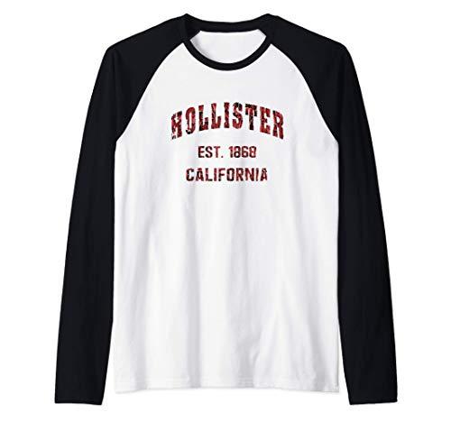 Hollister, California Home Souvenir . EST. 1868 Camiseta Manga Raglan