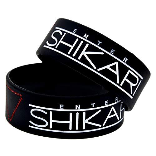 Xi-Link Pulsera De Silicona Entrar Shikari Banda Suave Pulsera De Silicona 1 Pulgada De Moda Estrella para Despertar Brazalete (Color : Black)
