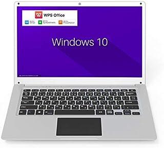 GLM 超軽量 薄型 PC ノートパソコン 日本語キーボート WPS Office/ Windows 10 / Celeron / WIFI / USB3.0 / HDMI / WEBカメラ / 14.1インチ / SSD64GB / メモリ4GB