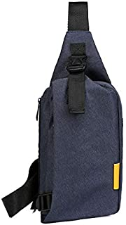 YXHM AU Small Chest Bag Leisure Travel Shoulder Bag Men Outdoor Sports Messenger Bag Canvas Bag (Color : Blue)