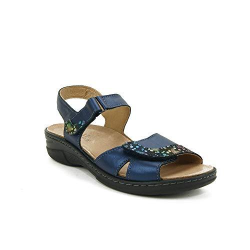 Belvida Damen Sandalen, Blau - Marineblau - Größe: 38 EU
