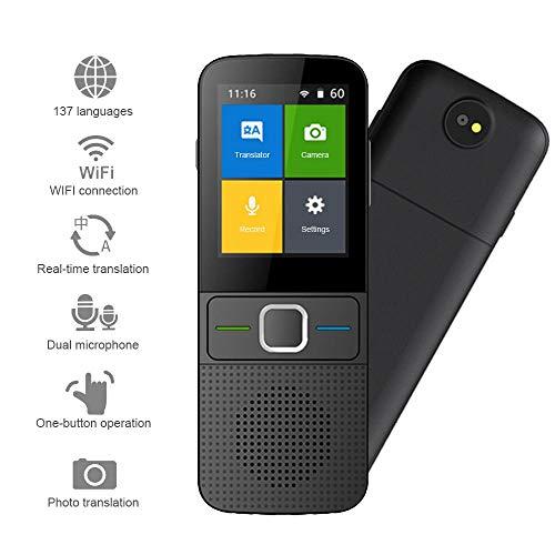 Volwco Sprache übersetzer Ausrüstung, Smart Sprachübersetzer Device Mit Foto-Übersetzungsfunktion, 137 Sprachen Sofortübersetzung In Zwei Richtungen Mit 2,4-Zoll-HD-Touchscreen