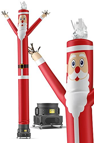 LookOurWay Santa Claus Christmas Themed 20-Feet Tall Air Dancers Inflatable Tube Man Complete Set with Blower