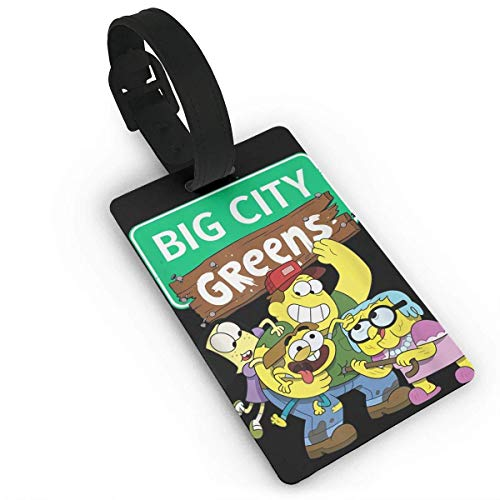 shenguang Channel Big City Greens Leather Luggage Tag Bag Tags Suitcase Tags Identifiers Travel Tags
