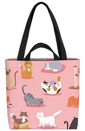 VOID Katzen Kätzchen Tasche 33x33x14cm,15l Einkaufs-Beutel Shopper Einkaufs-Tasche Bag