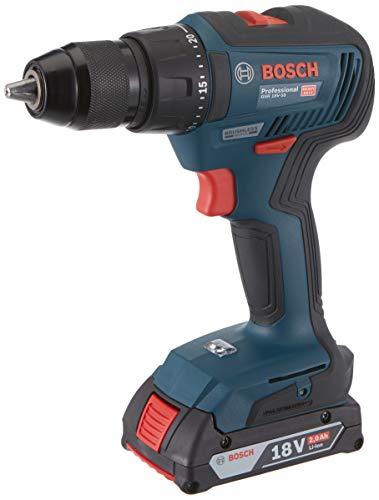 Bosch Professional 06019H5000 Bosch GSR 18V-50 Taladro/Atornillador a batería (2x2,0 Ah, Brushless), Azul