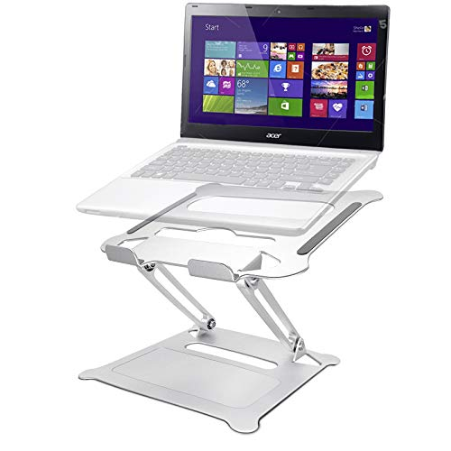 Laptop Stand, Innovaze Adjustable Laptop Riser Stand for Desk, Aluminum Portable Ergonomic Laptop Holder Adjustable Height - Compatible with up to 15.6' Notebooks/Laptops