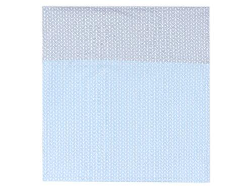 Force Kids Chiffon d'allaitement petites feuilles Bleu clair sur blanc/petites feuilles Gris clair sur blanc