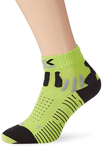 X-Socks effektor - Calcetines unisex, multicolor (green lime/black), talla 42/44