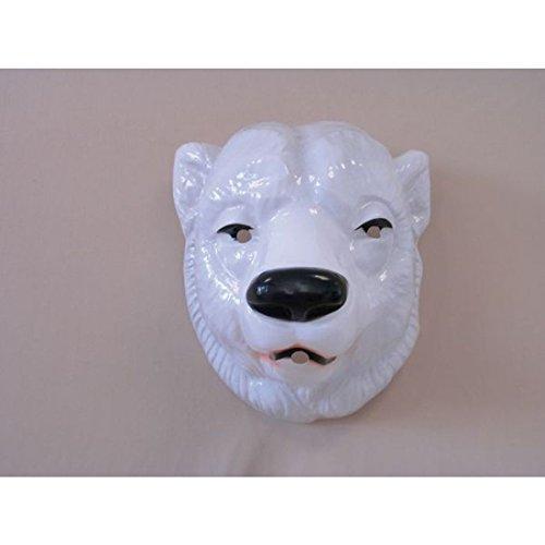 Amakando Eisbär Maske Tier Maske Bär Bärenmaske Eisbären Eishockey Fanartikel Bärmaske Eisbären Tiermaske