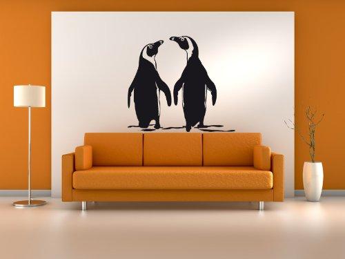 Tattoomaker Wandtattoo Wandaufkleber Sticker Pinguine Pinguin Paar Motiv: #74a schwarz 60 x 60cm