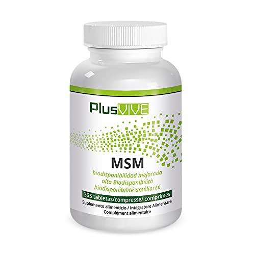 Plusvive - 365 cápsulas de MSM con matriz de biodisponibilidad