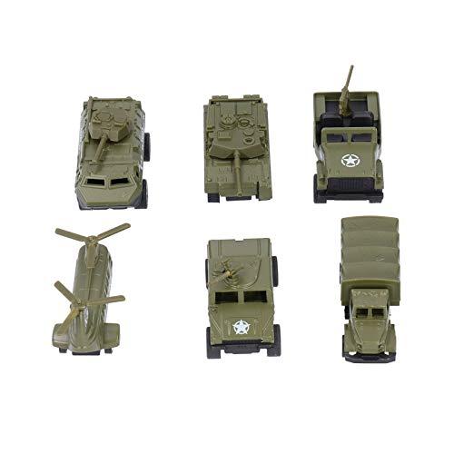 Modelo de automóvil, Modelo de automóvil militar, Estándar internacional de alta imitación para niños Niños(One set (6 styles))