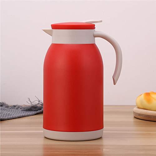 Matedepreso Jarra térmica, acero inoxidable doble pared jarra de té con anillo de sellado, 1200 ml