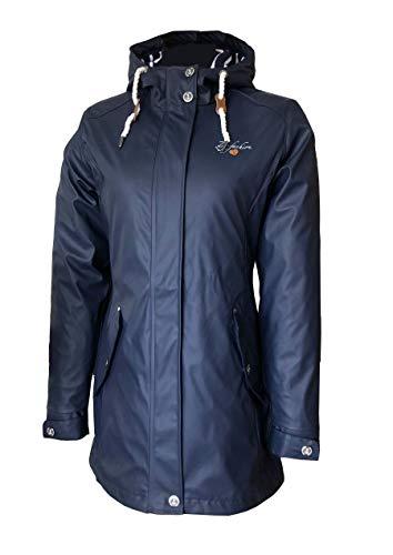 Dry Fashion Damen-Regenmantel Kiel Farbe Navy, Größe 46