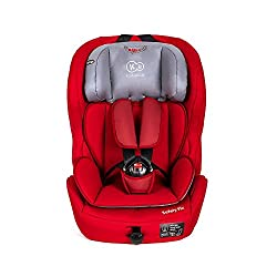 Kinderkraft Safetyfix Kinderautositz mit Isofix 9-36 kg Gruppe 1 2 3 Rot