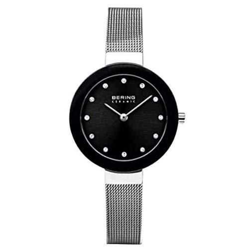BERING Damen Analog Quarz Uhr mit Edelstahl Armband 11429-002