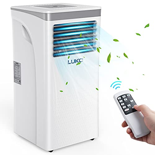 LUKO 3-in-1 Portable Air Conditioner 9,000 BTU,Dehumidifier,Fan for Rooms up to 350 sq ft,AC Unit Portable with Remote Control,Window Kits for Room, Office,Bedroom, White