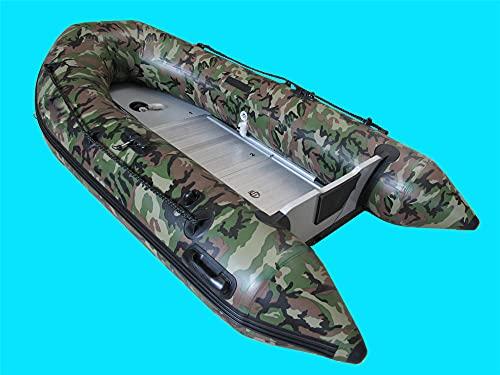 Fnho Aufblasbares Boot Schlauchboot,Paddel Sportboot,2,7 m PVC-Schlauchboot, Aluminiumlegierung-Camouflage_270 x 151cm