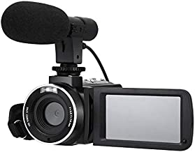 Video Camera 2.7k HD Camcorder 30MP Rotatable Touch Screen 18X Digital Zoom Video Recorder with Microphone, Remote, Wide-Angle Lens for YouTube Vlogging