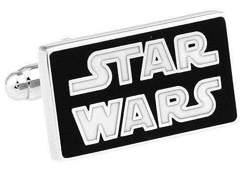 Global Accessories Blanc Star Wars Bouton de Manchette avec boîte-Cadeau Parfait pour Cadeau d'anniversaire et Toute Occasion