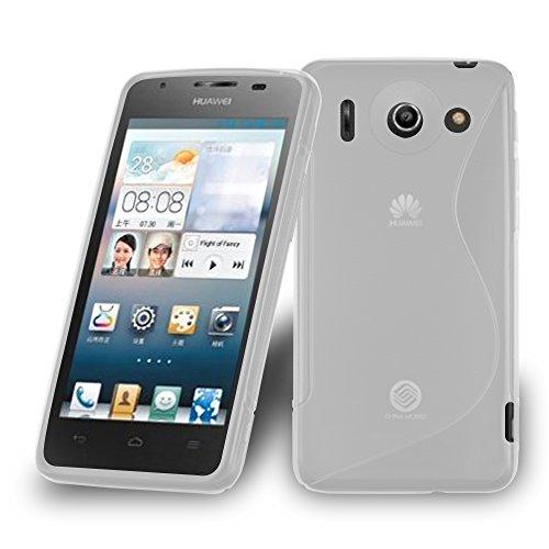 Preisvergleich Produktbild Cadorabo Hülle für Huawei Ascend G510 - Hülle in HALB TRANSPARENT Handyhülle aus flexiblem TPU Silikon im S-Line Design - Silikonhülle Schutzhülle Soft Back Cover Case Bumper