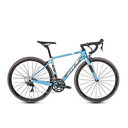 WXXMZY Bici Da Strada In Fibra Di Carbonio, Bici Da Strada In Fibra Di Carbonio 700C, Dotata Di Sistema Di Trasmissione A 22 Velocità E Freni A Disco (Color : B, Size : 450mm)